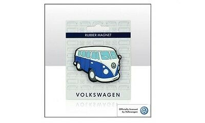 VW Campervan in blue Rubber Magnet - VW Licensed Product