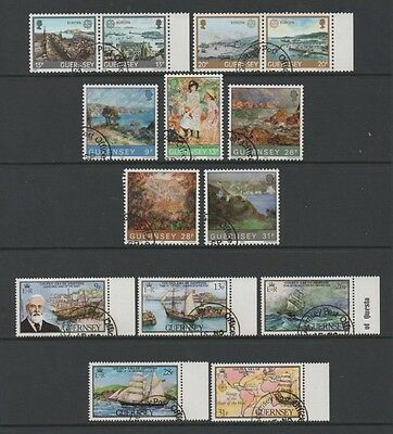 Guernsey 1983 Lovely Collection Of 3 Commemorative Sets *fine Cto*