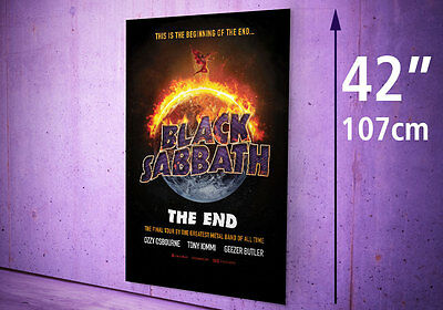 "BLACK SABBATH The End 17 UK Tour PHOTO Print POSTER Ozzy 42"" 110 cm height A0 A1"