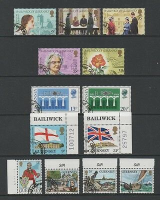 Guernsey 1984 Lovely Collection Of 4 Commemorative Sets & Sheetlet *fine Cto*
