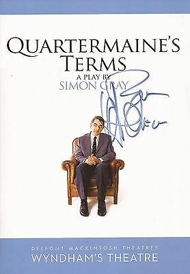 Quartermaine's Terms: Rowan Atkinson Signed Theatre Programme+Coa *proof*