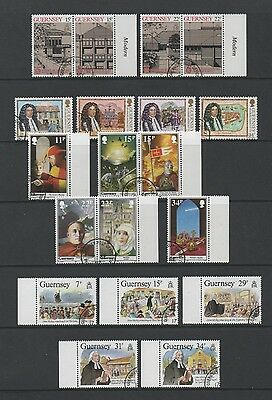 Guernsey 1987 Lovely Collection Of 4 Commemorative Sets & Ms *fine Cto*