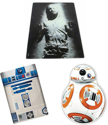 Star Wars - Toughened Glass Kitchen Surface Chopping Board - New Official Disney