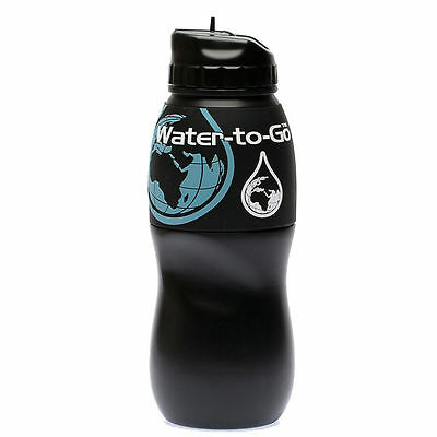 Water To Go Instant Filtration Water Bottle 75Cl Black