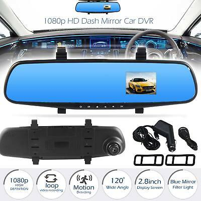 1080P HD Mirror Car DVR Dash Camera Video Cam Recorder G-Sensor Night Vision UK