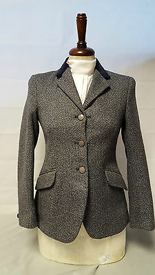 Pytchley Mears childs Unisex Chase Navy Tweed Riding Jacket Hunting/Showing