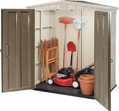 NEW Keter Apex Plastic Garden Storage Shed with Double Doors 6ft x 3ft - Brown