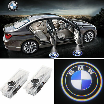 2Logo LED Step Door Courtesy Welcome Light Ghost Shadow Laser Projector FOR BMW