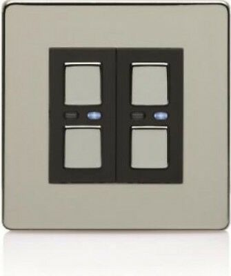 Megaman Wireless Control Lightwave Double Slave Dimmer in Chrome