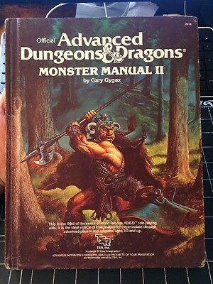 Advance Dungeons And Dragons Monster Manual 2 1983 Gary Gygax