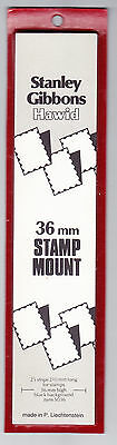 HAWID - STANLEY GIBBONS 36 x 210mm 25 black stamp mounts - normal retail £8