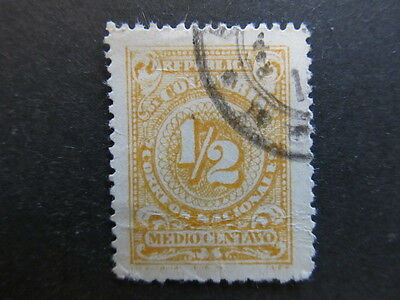 A3P25 Colombia 1908 1/2c Perf. 13 1/2used #48
