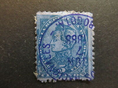 A3P25 Colombia 1886 5c used #34
