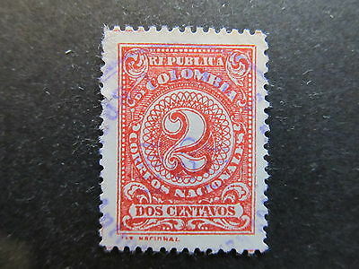 A3P25 Colombia 1908 2c Perf. 13 1/2 used #68