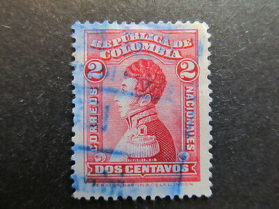 A3P25 Colombia 1917 2c used #59