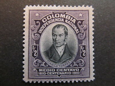 A3P25 Colombia 1910 1/2c mh* #54