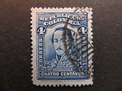 A3P25 Colombia 1926-29 4c used #60