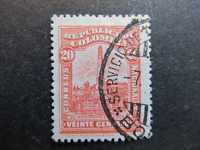 A3P25 Colombia 1917 20c used #63