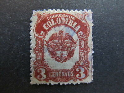 A3P25 Colombia 1918 3c used #64