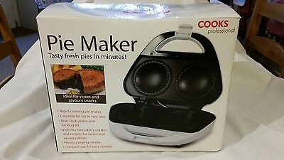 Electric Deep Pie Maker, Non-Stick Easy Clean 2 Fruit or Meat Pies