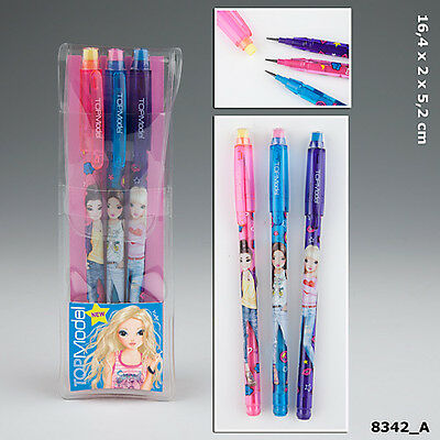 TOPModel push pencil with eraser - pack of 3