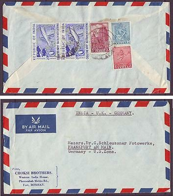 z2495/ India Airmail Cover to Germany 1950