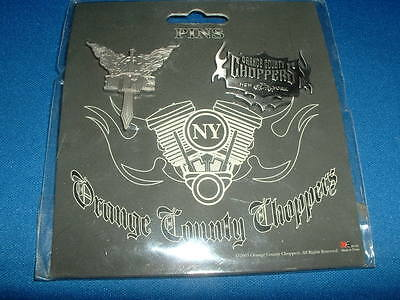 Brand New 2003 Orange County Choppers Pin Set Series 1 Original Package