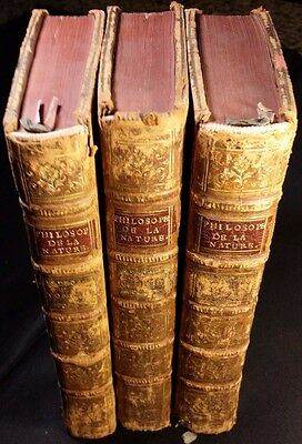 1777 - Lot 3 Books – From the philosophy of nature or the treatise on morality