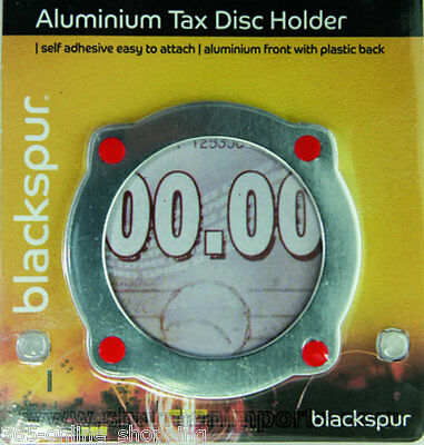 Aluminium Self Adhesive Stick On Vehicle Road Tax Disc Licence Permit Holder