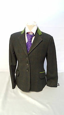 Tagg Elf Essen Childs Green Tweed Show/Hunting Jacket 26/28