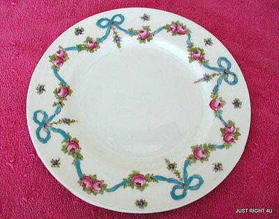 """Crown Staffordshire (Blue Bow) 8 1/4"""" SALAD PLATE(s) EUC (9 avail)  F4547"""