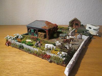 MODEL RAILWAYS OO GAUGE DIORAMA / FARM SCENE suit HORNBY