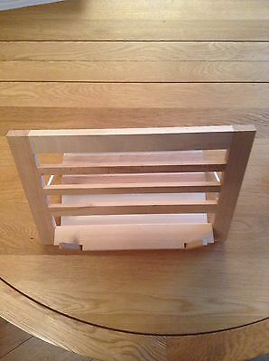 Book Stand, wood, virtually unused, folds flat for storage