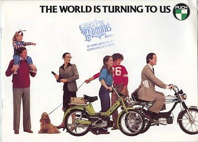 1978 Puch Motorycle & Motorized Bicycle Brochure my8033