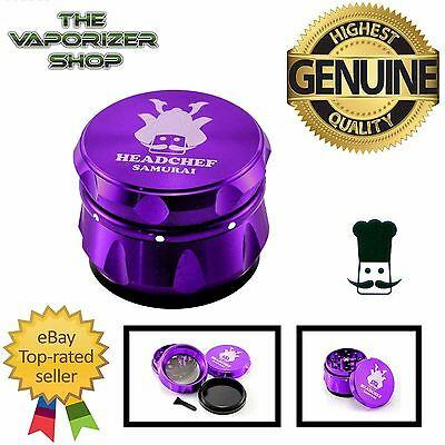 Purple Head Chef Samurai Top Quality Alluminium Magnetic Grinder 55mm 4 Piece
