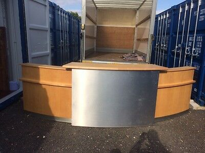 Office / Reception desk Moon Shape, can deliver if needed