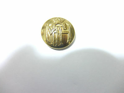 Smallish vintage MAY FAIR HOTEL brass uniform button. 18mm. MFH & crown
