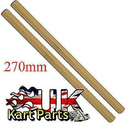 KART Pair of M8 x 270mm Gold Hexagonal Alloy Track Rods High Quality Best Price
