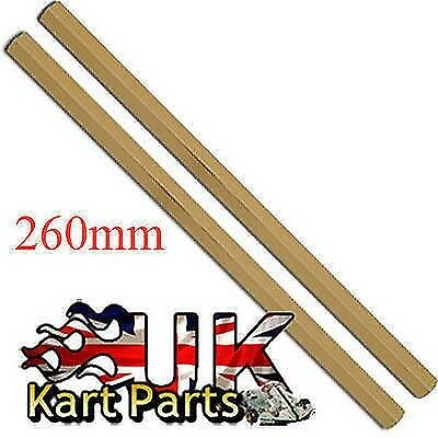 KART Pair of M8 x 260mm Gold Hexagonal Alloy Track Rods High Quality Best Price