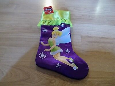Disney Fairy Tinkerbell Tinker Bell Purple Green Christmas Holiday Stocking New