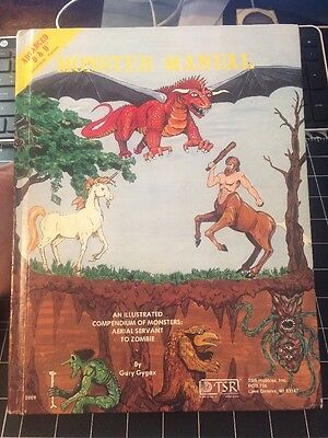 Advanced Dungeons And Dragons Monster Manual 1979 Collectible Gary Gygax