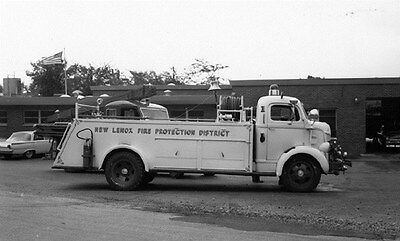1941 Ford Darley Fire Truck New Lenox Illinois Factory Photo ca6340