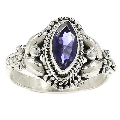 Iolite 925 Sterling Silver Ring Jewelry s.9 SR212758