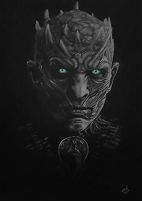 Original A3 drawing of The Night King from TV drama Game of Thrones