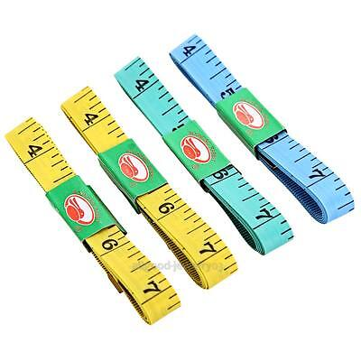 4pcs Body Waist Measuring Ruler Sewing Cloth Tailor Tape Measure Soft Flat 1.5m
