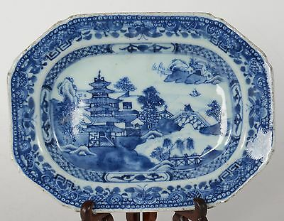 c1790 Antique Chinese Export Porcelain Nanking Serving Plate or Platter