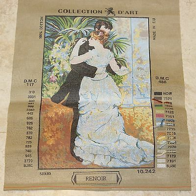 COLLECTION D'ART Printed TAPESTRY Needlepoint Canvas No 10.242 Renoir Couple