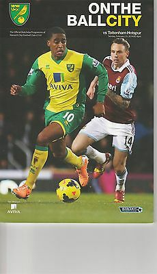 2013/14 PREMIER LEAGUE : NORWICH CITY v TOTTENHAM HOTSPUR / SPURS 23/02/14