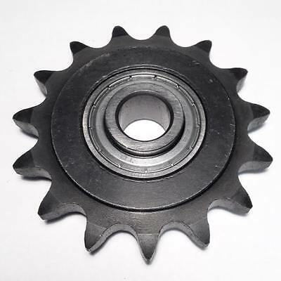 "50BB15H-5/8"" #50 Roller Chain Idler Sprocket 5/8"" Bore 15 Teeth Bearing"