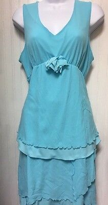 New With Tags Womens Sky Blue 2Pc Cody Patrick Maternity Blouse W/ Skirt Size Xl